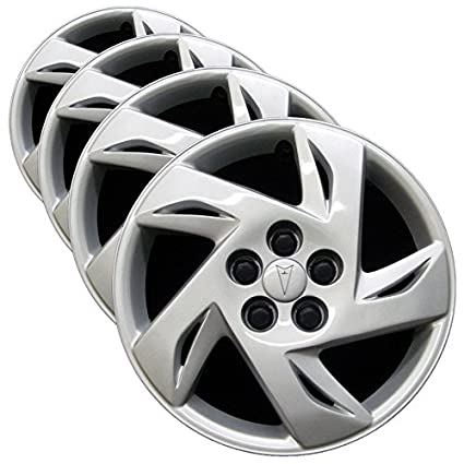 15-Inches Metallic Silver Hubcaps Wheel Cover Pop-On TuningPros WSC3-303S15 4pcs Set Snap-On Type