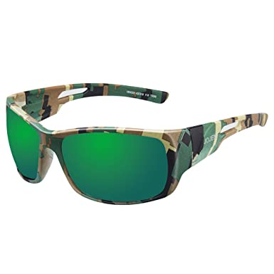 7d61c0706125a JOJEN Camouflage Polarized Sports Sunglasses for men women Running Cycling  Fishing Hunting Golfing Tr90 Ultralight Frame TAC HD Lens JE008 (Green Camo  Frame ...