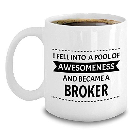 Real Estate Broker Coffee Mug - Funny Pool Of Awesomeness Gag Gift For Brokers