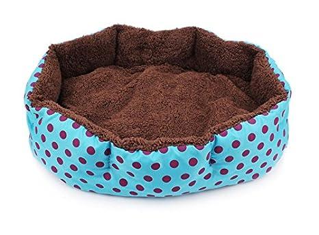 Cdet Cama para mascotas dot octogonal perrera desmontable cojines nido de mascota trompeta,Azul: Amazon.es: Hogar