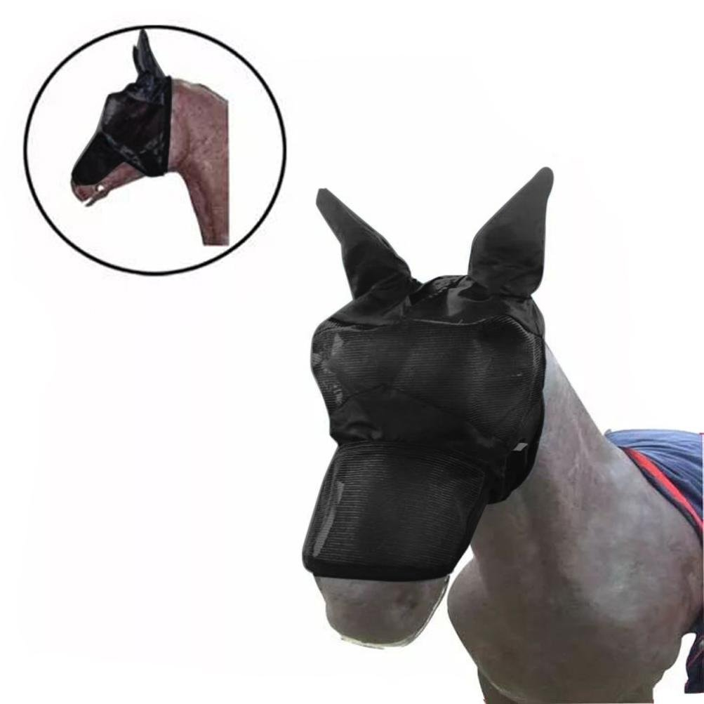 HKFV - Máscara de caballo creativa para la cara del caballo y los ojos, protector para la nariz del caballo, protección solar, elegante decoración para ...
