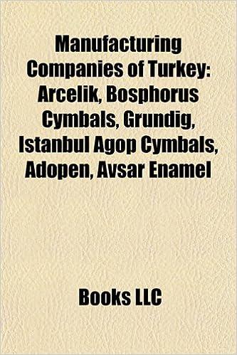 Manufacturing Companies of Turkey Ar Eli: Books LLC: Amazon com au