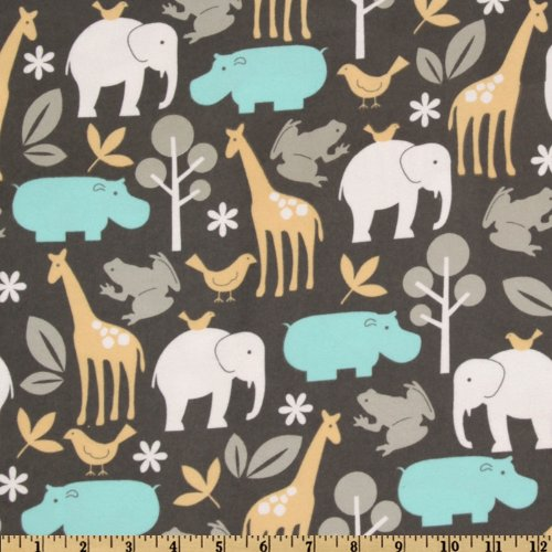 Zoology Flannel Sea Fabric By The Yard (Michael Miller Flannel Fabric)