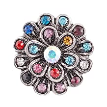 Lovmoment diamond Flower Snap Jewelry Charm Interchangeable Jewelry (2)