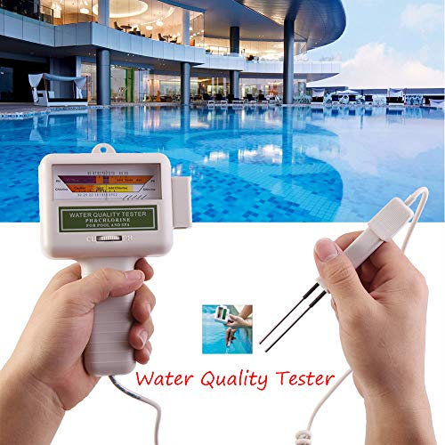 (DICPOLIA Home Supplies Portable 2 in 1 PH & CL2 Chlorine Level Tester Kit and Ph Tester Meter,Swimming Pool, Spa Water Quality Tester Monitor Level Meter)