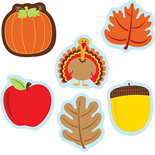 Carson Dellosa - Fall Mix Mini Colorful Cut-Outs, Fall Classroom Décor, 36 Pieces, Assorted Designs