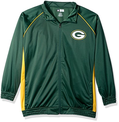 NFL Green Bay Packers Women POLY TRICOT TRACK JACKET, DARK GREEN/GOLD, 3X
