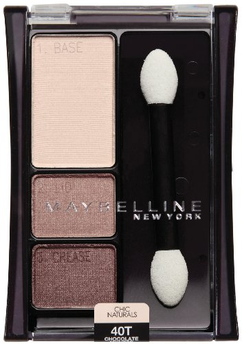 Maybelline New York Expert Wear Eyeshadow Trios, 40t Chocolate Mousse Chic Naturals, 0.13 Ounce