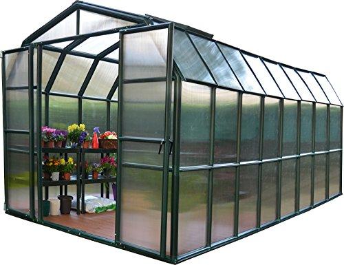 - Rion Grand Gardener 2 Twin Wall Greenhouse, 8' x 16'