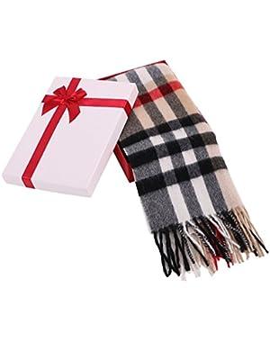 Women's Winter Cashmere Scarf w/ Gift Box, 64