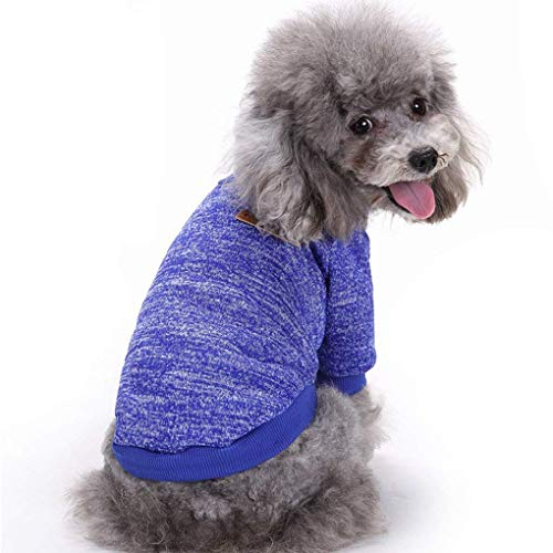 Bwealth Dog Sweater, Dog Clothes Soft Pet Apparel Thickening Fleece Shirt Warm Winter Knitwear Sweater for Small Pet…