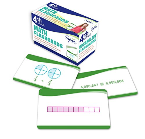 4th Grade Math Flashcards: 240 Flashcards for Improving Math Skills Based on Sylvan's Proven Techniques for Success (Sylvan Math Flashcards)