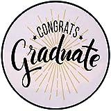 Printing Round Rug,Graduation Decor,High School University Academy Commendation Honors Degree Bachelor Mat Non-Slip Soft Entrance Mat Door Floor Rug Area Rug For Chair Living Room,Black White Orange