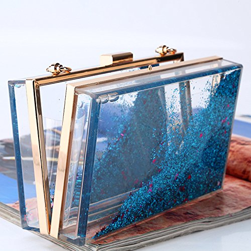 Women's Evening Choose Bag Quicksand Rabbit Sparkling Sequins To Creative From Blue Purple Acrylic Colour Multi Lovely Translucent Color 5fOpxq8ww