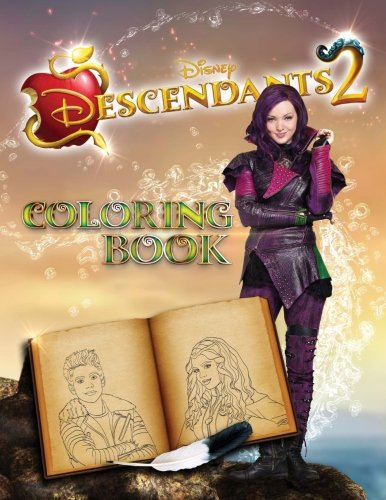 Descendants 2 Coloring Book cover