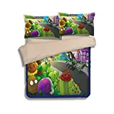 California King Bed Vs King Size Plants VS. Zombies Bedding Sets - Sport Do Best Gifts for Game Funs 100% Polyester Skinclose Fitted Sheet 4PC Full