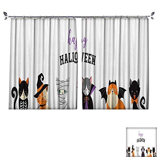 DragonBuildingMaterials Decorative Curtains for Living Room Happy Halloween