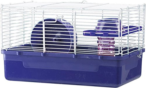 Ware Manufacturing Home Sweet Home Hamster Cage, 1 Level with Wire Top, 3-Pack, Colors May Vary