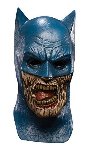 Blueest Night Batman Zombie Overhead Latex Mask, Blue, One Size