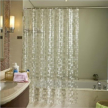 Eforgift Eco Friendly 14 Gauge PVC Shower Curtains Mildew Resistant  Waterproof ,Bathroom Curtain Liner