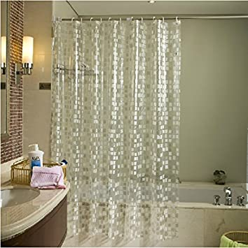 Eforgift Eco Friendly 14 Gauge PVC Shower Curtains Mildew Resistant  Waterproof ,Bathroom Curtain Liner