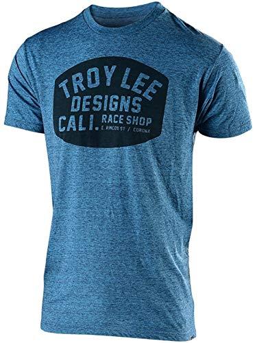 (Troy Lee Designs Men's Blockworks T-Shirt (Large, Tahoe Blue))