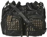 FRYE Brooke Drawstring Novelty Bag,Black,One Size, Bags Central