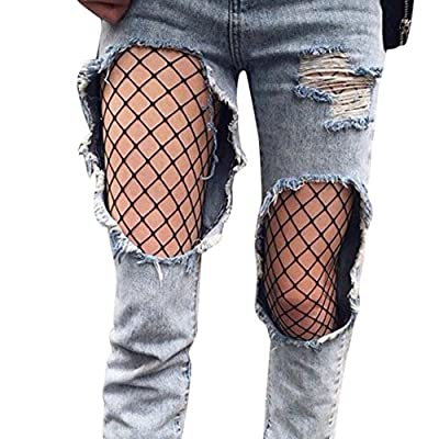 Tsmile Women Pants Hosiery Black Fishnet Elastic Thigh High Stockings Pantyhose Tights Pants