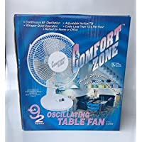 Comfort Zone CZ9D 9 Oscillating Table Fan