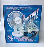 """Best Comfort Zone Oscillating Fans - Comfort Zone CZ9D 9"""" Oscillating Table Fan Review"""