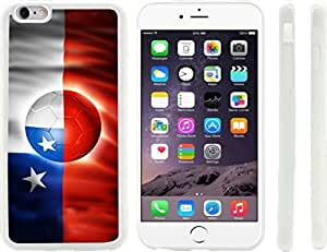 Rikki KnightTM Brazil World Cup 2014 Chile Team Football Soccer Flag Design Case Cover For Apple Iphone 6 Plus 5.5 Inch (Clear Hard with raised front bumper protection) for Case Cover For Apple Iphone 6 Plus 5.5 Inch