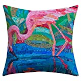 Deny Designs Elizabeth St Hilaire Nelson Flamingo 2 Outdoor Throw Pillow, 18 x 18