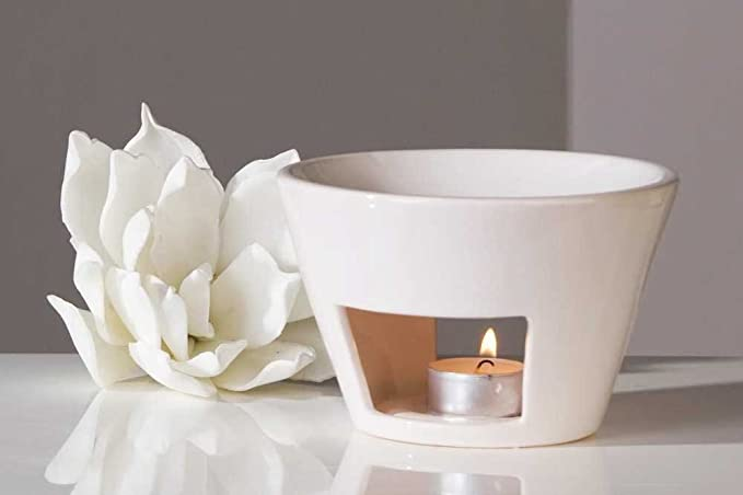 Casablanca - Aromabrenner Shape - Keramik - weiß - Höhe 10cm - Ø 15 cm