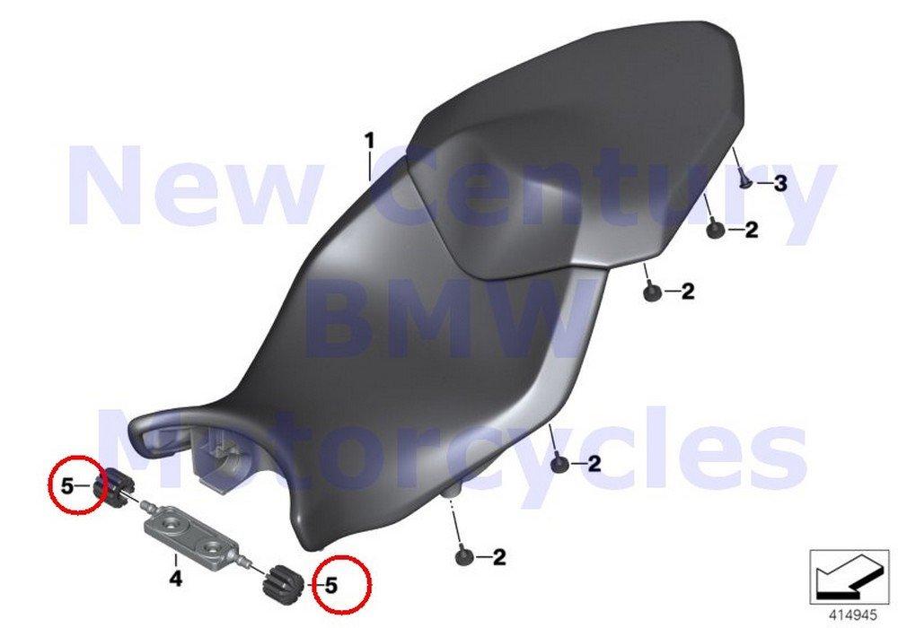 2 x BMW Genuine Motorcycle Bench Seat Fuel Tank Bump Stop R1100GS R1100R R850 R1100RS R1100S R1100RT R1200C R1200 Montauk R1200C Independent K1 K100RS K1100LT K1100RS R1200RT R900RT R1200R HP2 Sport