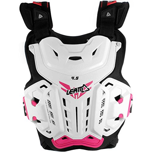 Leatt 5016300100 4.5 Jacki Chest Protector (White/Pink, One Size) ()