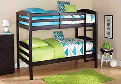 Expresso Standard Twin Design Wood Bunk Bed