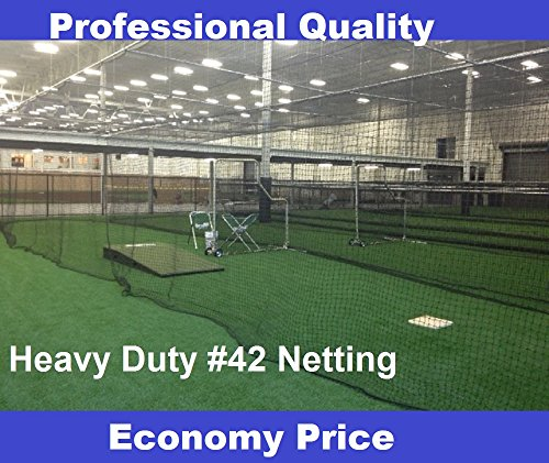 EXCURSIONS Baseball Batting Cages #42 (54 Ply) Professional Commercial Quality Multiple Sizes (12'H x 14'W x 70') ()