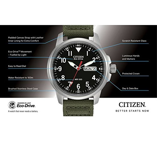 Amazon.com : CitizeN Citizen Eco-Drive Bm8180-03E Watch Canvas MenS Strap : Sports & Outdoors