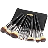 Matto Makeup Brushes Set 10-Piece Foundation Powder Mineral Eye Eyeshadow Makeup Brushes with Travel Bag