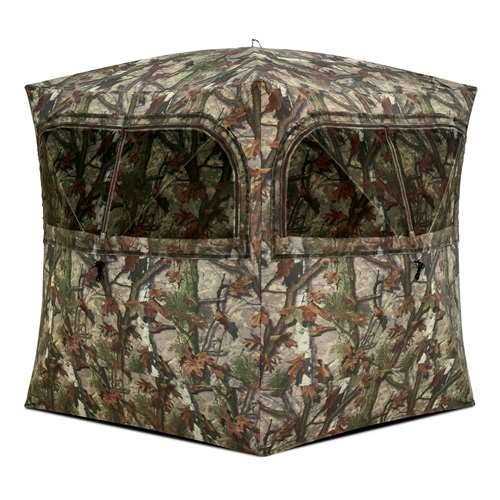 (Barronett Grounder Ground Hunting Blind, 3 Person Pop Up Portable, Woodland Camo)