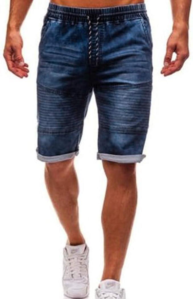 Jurtee Pantalones Cortos Hombre Vaqueros Moda Casuales Elasticos Tallas Grandes Pantalones Cortos Con Bolsillos Amazon Es Ropa Y Accesorios