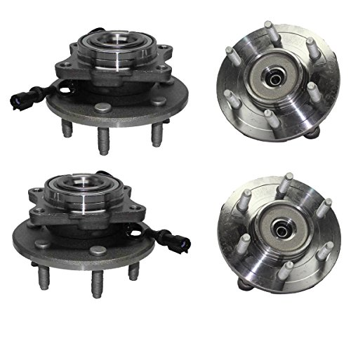(Detroit Axle - Front Wheel Bearing and Rear Hub Assembly Set for 2003 2004 2005 2006 Ford Expedition 4WD [2003-2006 Lincoln Navigator 4WD])