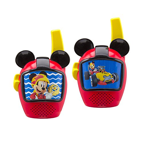 Mickey and The Roadster Racers Walkie Talkies for Kids Static Free Extended Range Kid Friendly Easy to Use 2 Way Walkie Talkies -  Kid Designs, SG_B07CP2QSKS_US