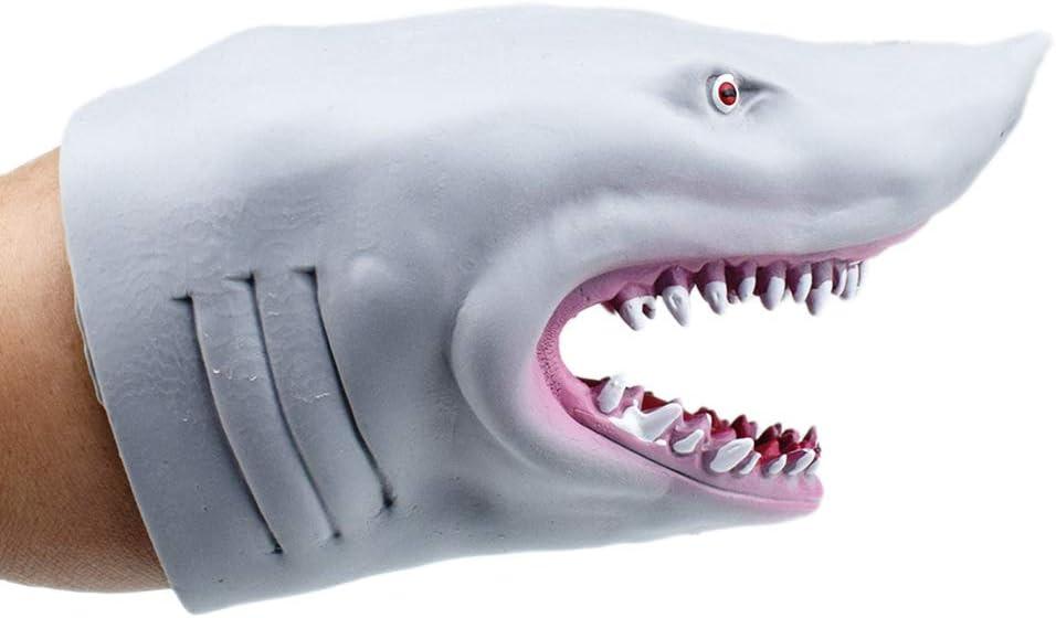 Ailyoo Juguete Marioneta de Tiburón de Goma Suave Marioneta de Mano para NIños,Shark Hand Toy Giveaway Regalo Favor de Fiesta para cumpleaños Fiesta Infantil