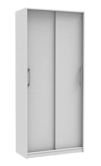 Madesa 2 Door Wardrobe With Sliding Doors Hanging Rail 1 8m Tall
