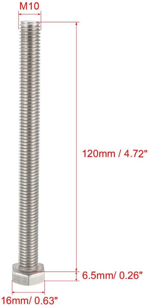 Carte de Source Filetage M10/120/mm en acier inoxydable 304/Vis /à t/ête hexagonale /à boulons