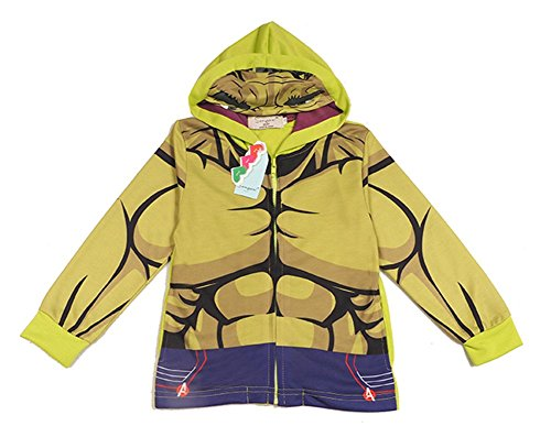[StylesILove Super Heroes Costume Zipper Hoodie Jacket (3-4 years, Incredible Hulk)] (The Incredibles Costume Girl)