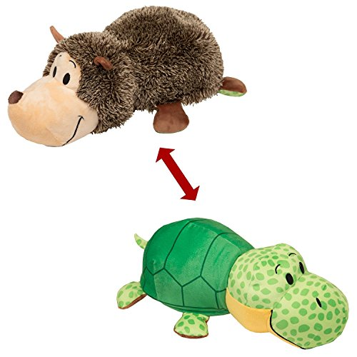 "FlipaZoo The 16"" Pillow with 2 Sides of Fun for Everyone – Each Huggable FlipaZoo character is Two Wonderful Collectibles in One (Hedgehog / (Homemade Pooh Bear Costumes)"
