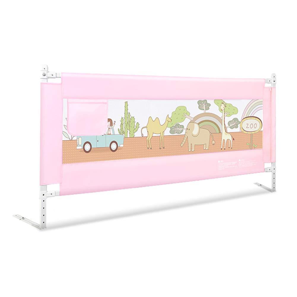 ベッドフェンス, 垂直リフトベッドガード幼児の安全チャイルドベッドガードベビーステディメッシュレールピンク、キング/クイーンサイズベッドのための - 高さ85cm (サイズ さいず : 200cm) 200cm  B07JZCQZWH