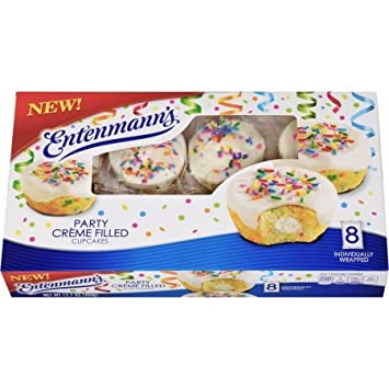 Entenmanns Creme Filled Cupcakes Party Amazon Grocery